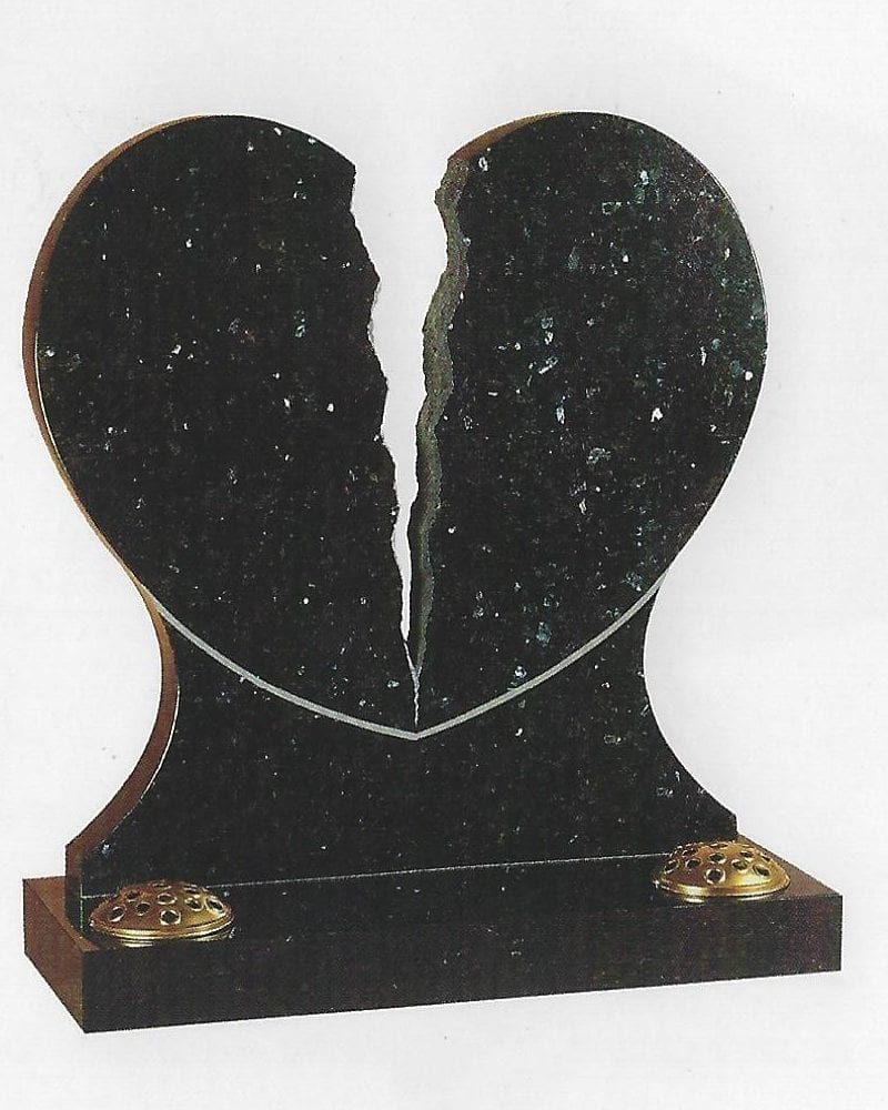 Broken Heart Headstone